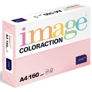 Coloraction A4 160 g 250 ks - Tropic/pastelově růžová