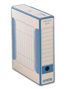 EMBA Archivační box vnitřní 33×26×7,5 cm - modrý potisk