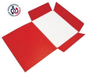 CAESAR OFFICE Odkládací mapa Prešpán A4 tříklopá - červená