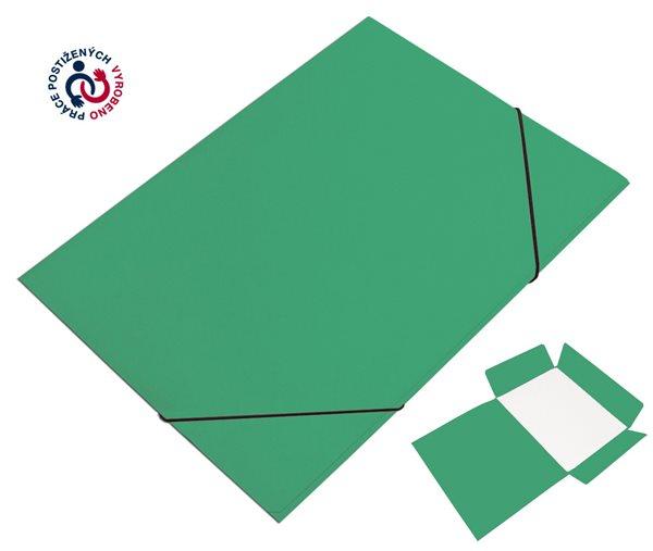 CAESAR OFFICE Desky A4 s gumou tříklopé Prešpán - zelené