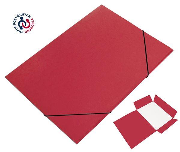 CAESAR OFFICE Desky A4 s gumou tříklopé Prešpán - červené