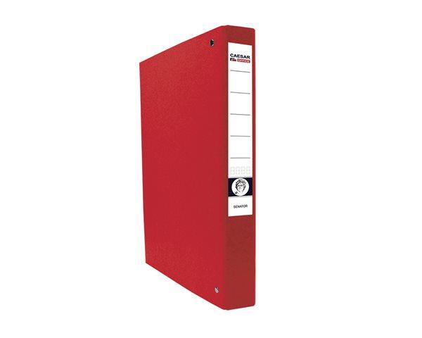 CAESAR OFFICE SENATOR Pořadač 4-kroužkový A4 4cm - červený