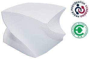 CAESAR OFFICE Špalíček lepený 85x85x50 - bílá vrtule
