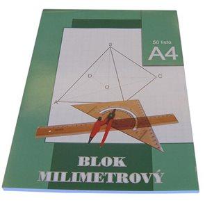 Blok milimetrový A4 50 listů