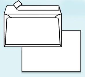 Obálka samolepící B4 samolepící se dnem 2 cm - bílá