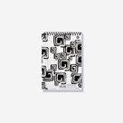 Bobo Blok Black&White s horní spirálou A5 50 listů - linka