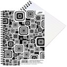 BOBO Blok Black&White s boční spirálou A5 50 listů - linkovaný