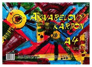 BOBO Akvarelový papír A4 10 listů