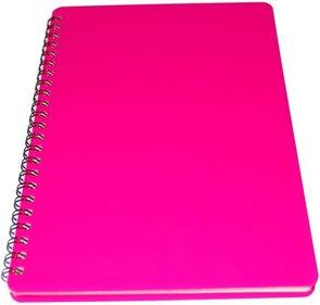 Bobo Plastic blok Neon A5 linka 60 listů - růžový