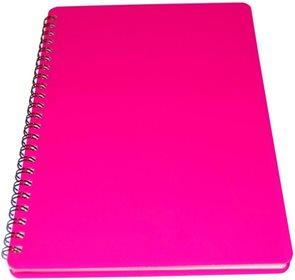 Bobo Plastic blok Neon A6 linka 60 listů - růžový