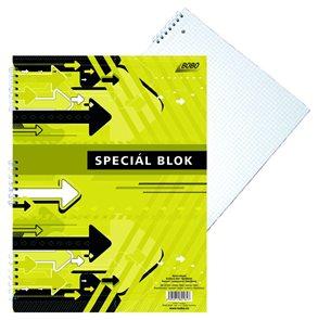 Blok Speciál COLOR A4 - čtverečkovaný