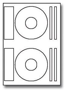 Image label Samolepící etikety A4 na CD bílá 100ks
