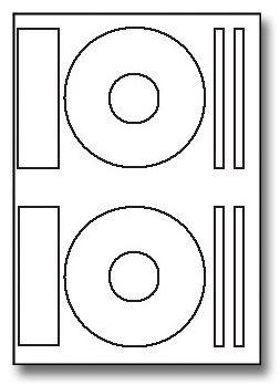 Image label Samolepicí etikety A4 100ks na CD bílé