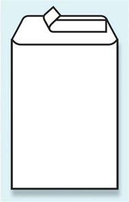 Poštovní taška B5 176 x 250 mm bez okénka samolepící - bílá