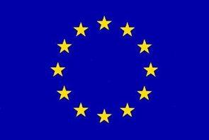 Stolní vlaječka EU - praporek se šňůrkou