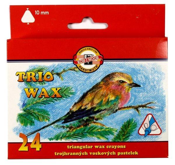 Koh-i-noor Pastelky voskové MAXI trojboké - 24 barev