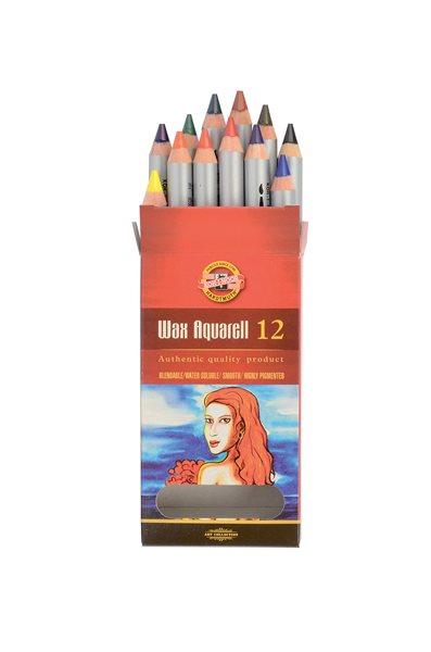 Umělecké akvarelové voskovky Koh-i-noor 8282 - 12 ks