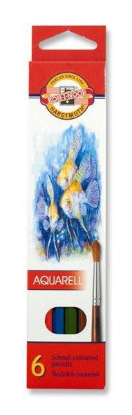 Koh-i-noor pastelky akvarelové školní - 6 ks