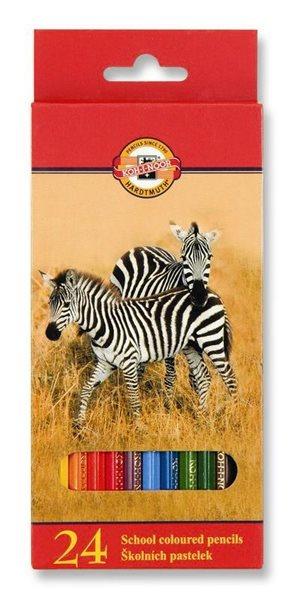 Koh-i-noor pastelky - Zvířata - 24 ks