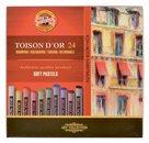 Umělecké prašné křídy Koh-i-noor TOISON DOR 8514 - 24 ks