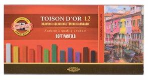 Umělecké prašné křídy Koh-i-noor TOISON DOR 8582 - 12 ks