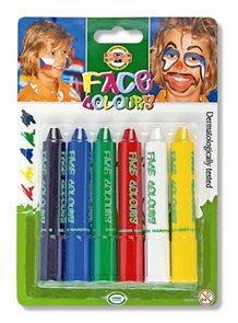 Obličejivé barvy Koh-i-noor - 6 barev, tyčinka