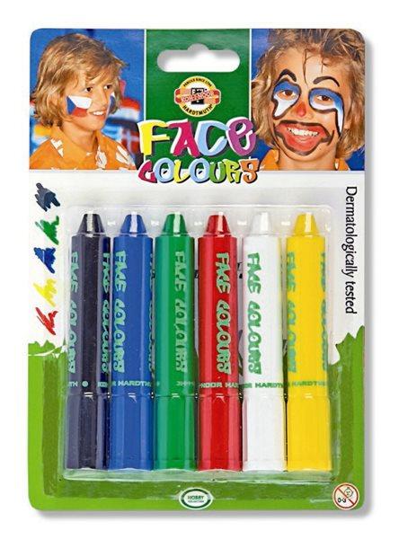 Obličejové barvy Koh-i-noor - 6 barev, tyčinka, Sleva 17%