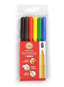 Popisovače Koh-i-nooor - 6 barev, trojhranné