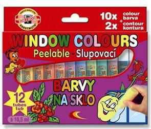Koh-i-noor barvy na sklo - 12 barev
