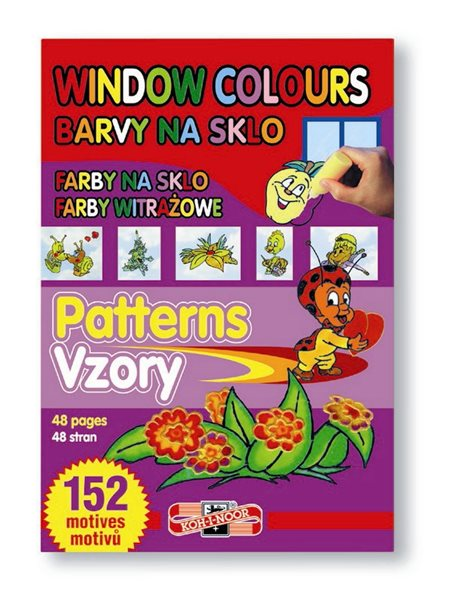 Šablony pro barvy na sklo - 152 motivů