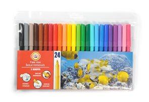 Koh-i-noor trojhranné fixy - 24 barev