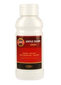 Koh-i-noor akrylová barva Acrylic - 500 ml - bílá