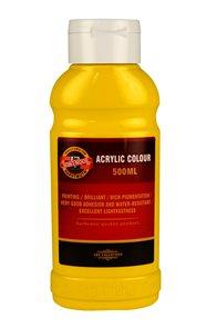 Koh-i-noor akrylová barva Acrylic - 500 ml - žluť tmavá