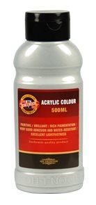 Koh-i-noor akrylová barva Acrylic - 500 ml - stříbrná