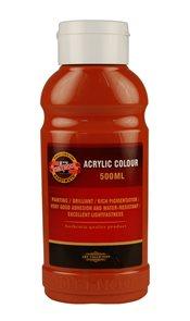 Koh-i-noor akrylová barva Acrylic - 500 ml - hněď světlá