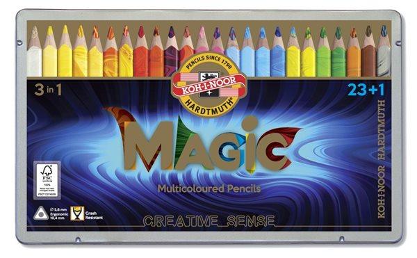 Koh-i-noor dárková sada pastelek Magic 3408 JUMBO - 24 ks