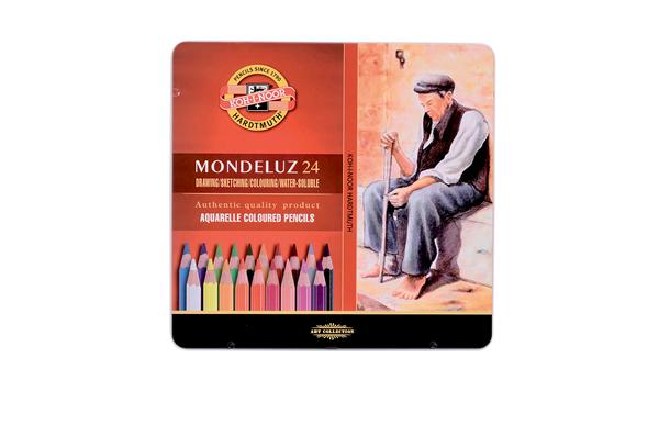 Umělecké akvarelové pastelky Koh-i-noor MONDELUZ - 24 ks