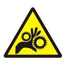 Výstraha - běžící stroj - 7,3×7,3/ fólie