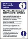 Pravidla pro obsluhu elektrických zařízení - A3/ plast