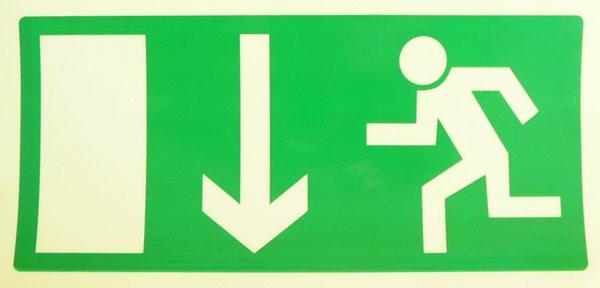 Nouzový východ (nad dveře) - 20×10/ FL-fólie - Svítivost: 400 mcd/m2 po 10 min. (dosvit 5400 min)