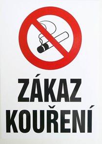 Zákaz kouření  (dle 379/2005 Sb.) - A4/ plast