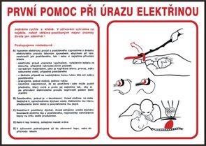 První pomoc při úrazu elektřinou - A3/ plast