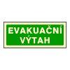 Evakuační výtah - 20×10/ FL-fólie - Svítivost: 400 mcd/m2 po 10 min. (dosvit 5400 min)