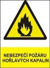 Nebezpečí požáru hořlavých kapalin - A6/ fólie