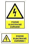 Pozor elektrické zařízení - 14,8× 5,5/ fólie