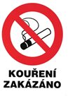 Zákaz kouření (označení restaurací) - 21x28 / samolepící zevnitř