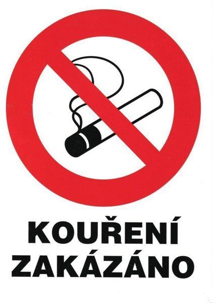 Zákaz kouření (označení restaurací) - 21x28 / plast