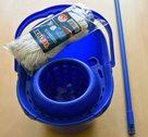 Vektex souprava modrá - vědro, mop, ždímač