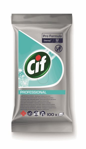 CIF univerzální čistící ubrousky na všechny omyvatelné povrchy - 100 ks