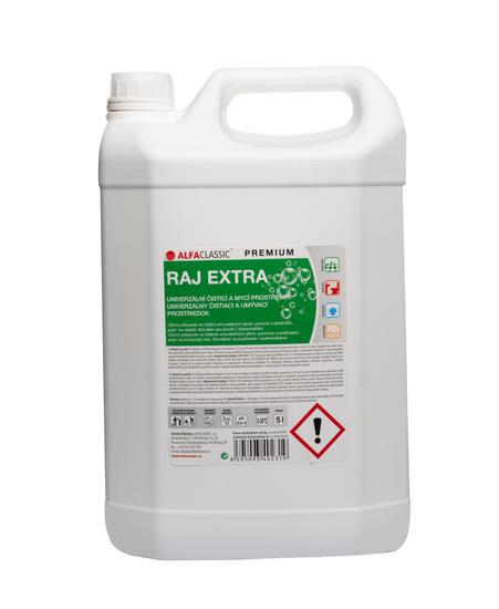 RAJ EXTRA PREMIUM na mytí podlah, povrchů a předmětů  -5 L